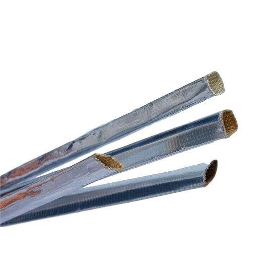 heat reflect aluminum foil fiberglass sleeve